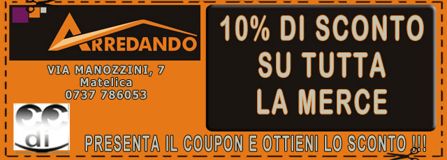 Coupon sconti Arredando Matelica