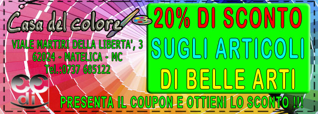 Coupon Casa del Colore Matelica