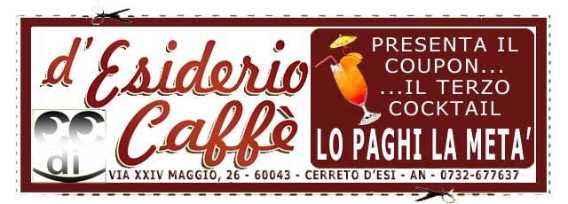 Coupon D'Esiderio Caffè