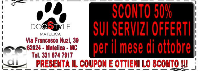 Coupon sconti DogStyle Matelica
