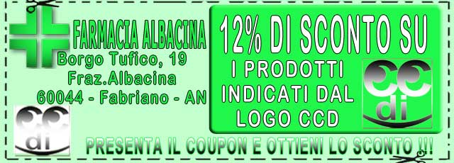 Coupon FARMACIA ALBACINA