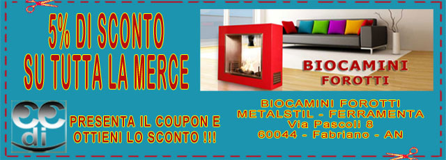 Coupon Biocamini Forotti