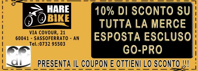 Coupon sconti HAREBIKE SASSOFERRATO