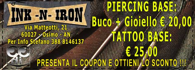 Coupon sconti INK-N-IRON TATTOO OSIMO