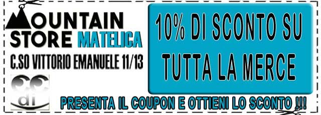 Coupon sconti MOUNTAIN STORE MATELICA