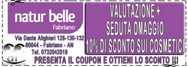 Coupon sconti NATUR BELLE FABRIANO
