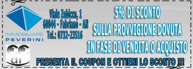 Coupon scontiIMMOBILIARE PEVERINI FABRIANO