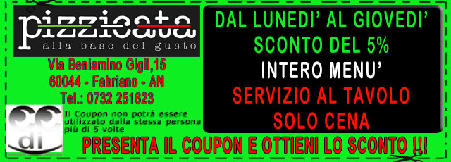 Coupon PIZZICATA FABRIANO