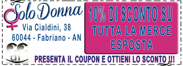 Coupon SOLO DONNA FABRIANO