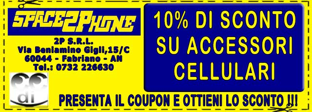 Coupon sconti Space2Phone Fabriano